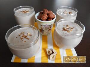 """Crème dessert """"Vegan"""" aux noisettes"""