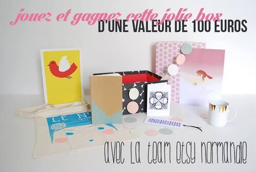 Jeu-concours avec la Team Etsy Normandie