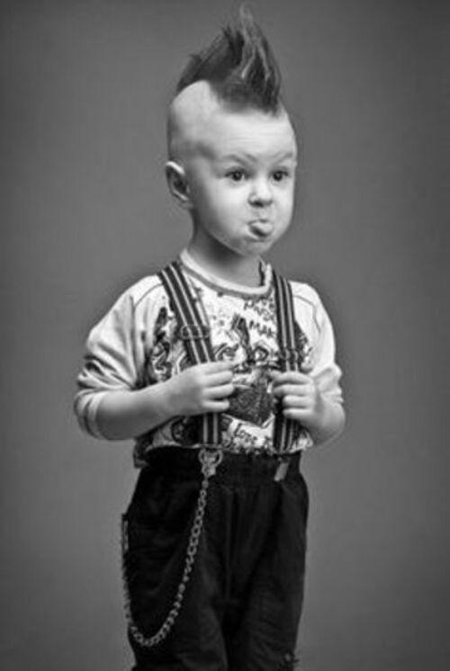 photos d'enfants noir et blanc