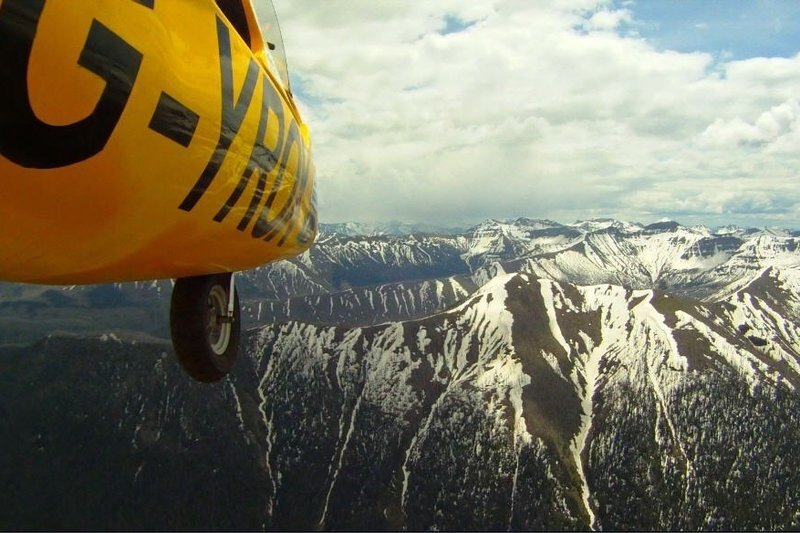Le Gyro au-dessus de Yellowstone