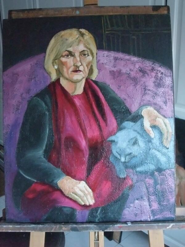 Jeudi - La femme au chat bleu