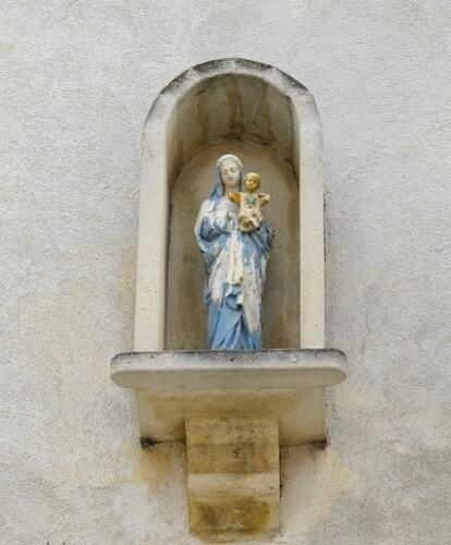 niche Vierge à l'enfant aux Saintes