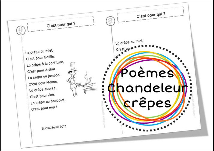 Poèmes Sur Les Crêpes Et La Chandeleur Mitsouko à Lécole