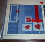 Une petite page de scrap bidouille -Love