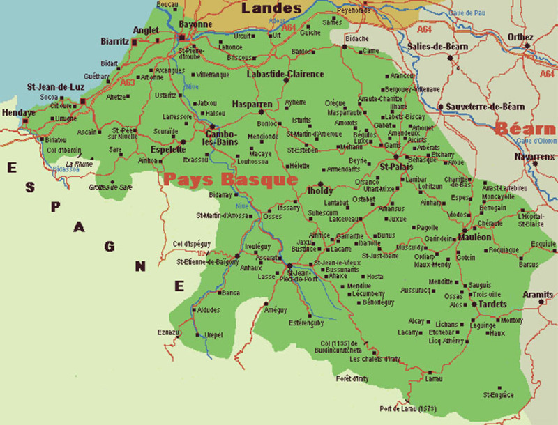 carte de la cote basque