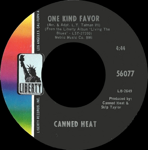"""Canned Heat : Album """" Living The Blues """" Liberty Records LST-27200 [ US ]"""