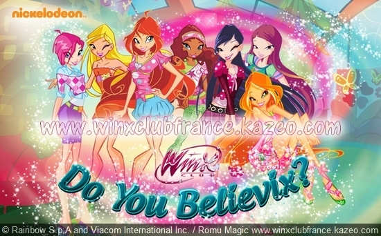 Winx Club Do You Believix Jeux Nickelodeon.fr