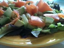 "Salade ""torti & saumon"""