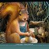 Écureuil - Cartes postales humoristiques (détail)