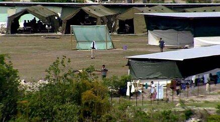 Sur l'île de Maunus les conditions d'hébergement font l'objet de protestations constantes