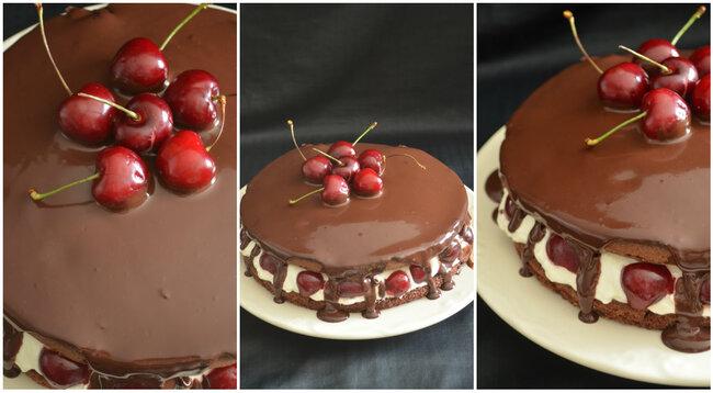 Layer Cake {Cerise,Chocolat et des petites choses qui font que...}