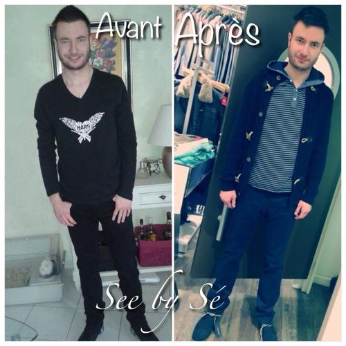 Relooking Avant/Après: Olivier