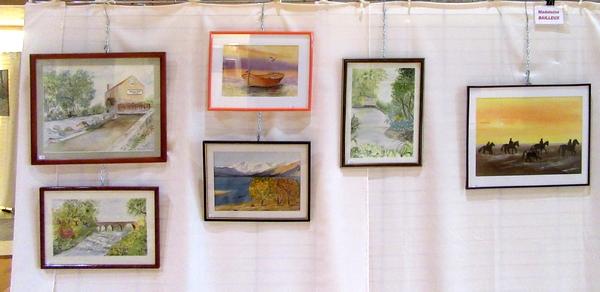 Les peintres des Amis du Châtillonnais ont présenté leurs œuvres de l'année 2019, salle Luc Schréder