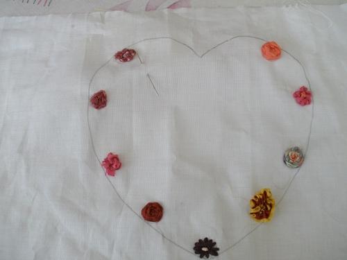coeur aux fleurs