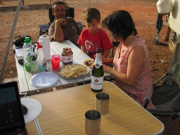 mali bamako campement kangaba 5 c'est la chandeleur merci rose
