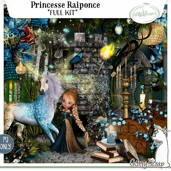 PRINCESSE RAIPONCE by Kitty Scrap