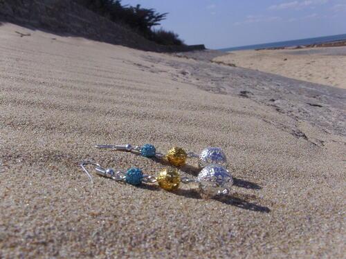 Boucles d'oreilles aux couleurs de l'océan