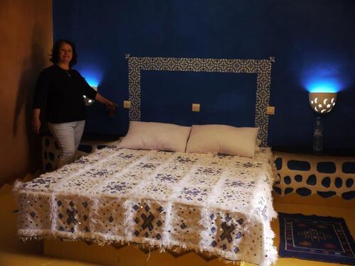 La chambre bleue d'un très bel effet
