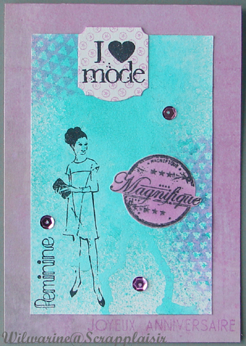 carte anniversaire femme mode