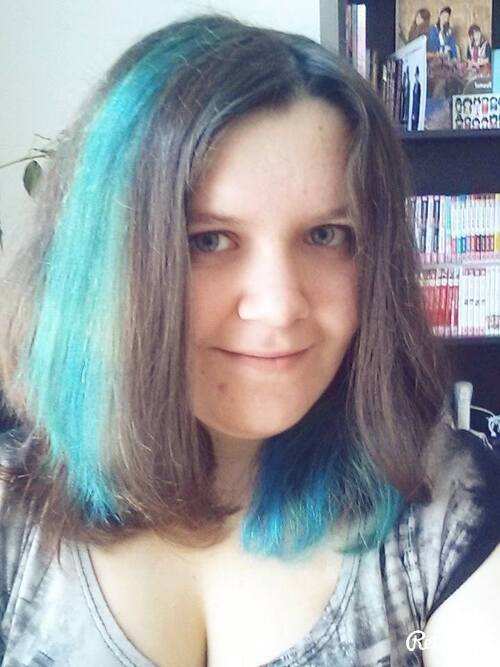 Cheveux bleu