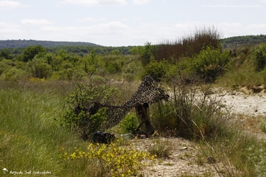 Filet de camouflage (fixé avec des pinces sur les supports naturels)