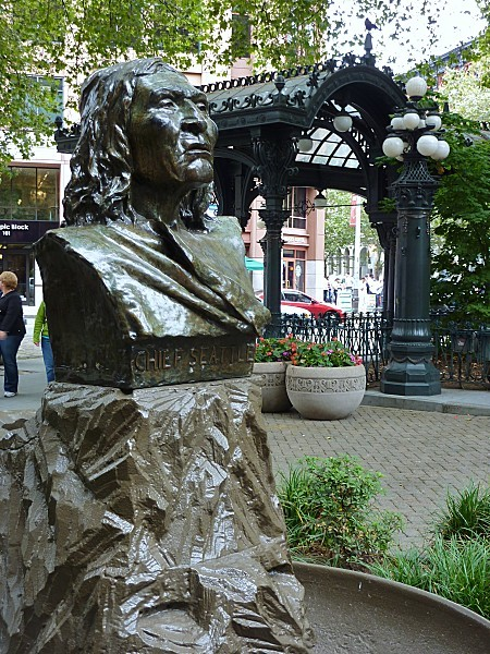Jour 30 Seattle Pioneer Square chief Seattle
