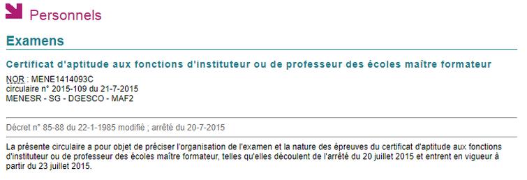 Documents de références pour le CAFIPEMF