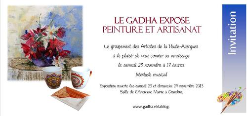 Ce week end, expo de Grandris !  Beaujolais nouveau et interlude musical...