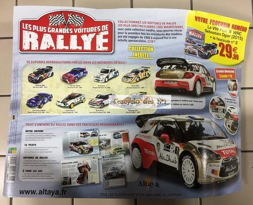 N° 1 Les plus grandes voitures de rallye - Lancement