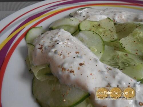 Salade de concombre & sauce allégée