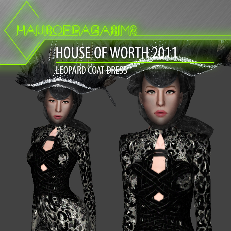 HOUSE OF WORTH 2011 LEOPARD COAT DRESS