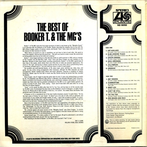 """1968 : Album """" The Best Of Booker T. & The MG's """" Atlantic Records SD 8202 [ US ]"""