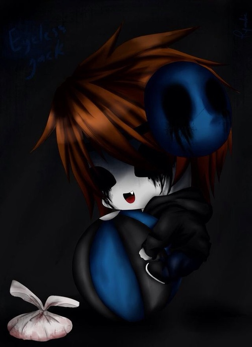 Image de eyeless jack, chibi, and creepypasta
