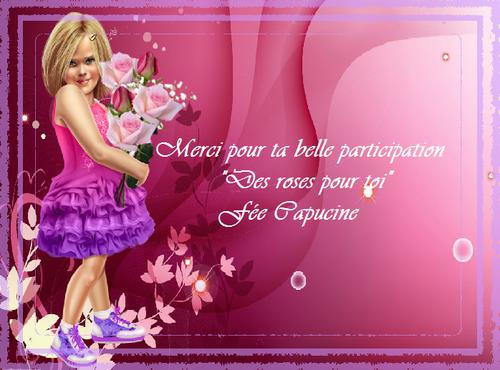 """Défi """"Des roses pour toi"""""""