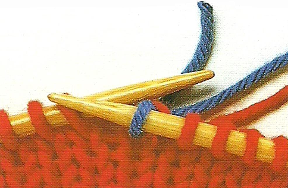 Comment tricoter rayures horizontales - Changer de couleur tricot ...