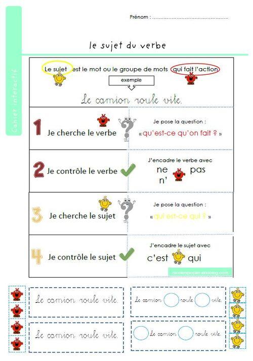 Le sujet du verbe