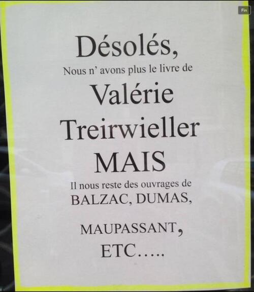 « Nous ne vendons pas le livre de Valérie Trierweiler »