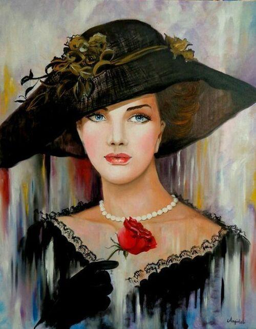 belles en chapeaux