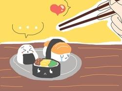Kawaii Sushis dessins °w°