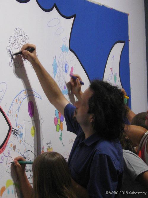 Didier Triglia au centre d'art Roman de Cabestany.