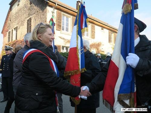* 74ème anniversaire de la Libération. Cérémonie au Monument aux Morts de Plancher-Bas.