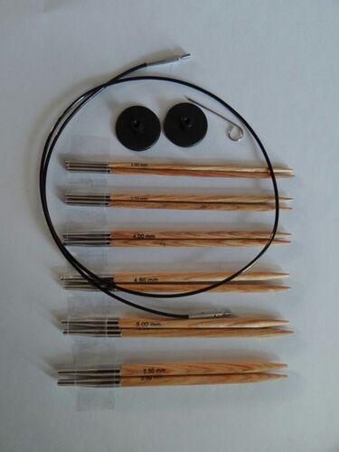 Je vends mes aiguilles circulaires interchangeables en bois Phildar
