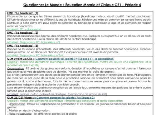 QLM EMC CE1 période 4 (année scolaire 2018/2019)