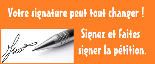 PETITIONS A SIGNER !