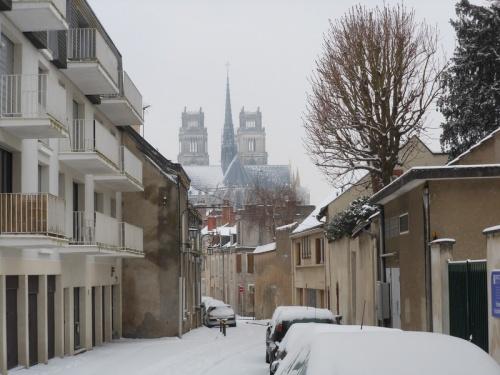 Orléans sous la neige