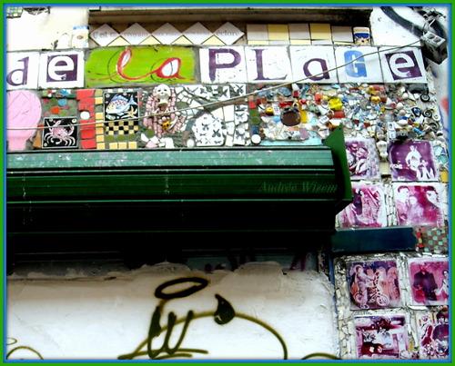 Image 89... De la plage aux roses...Collage céramique...Paris...Avril 2015...