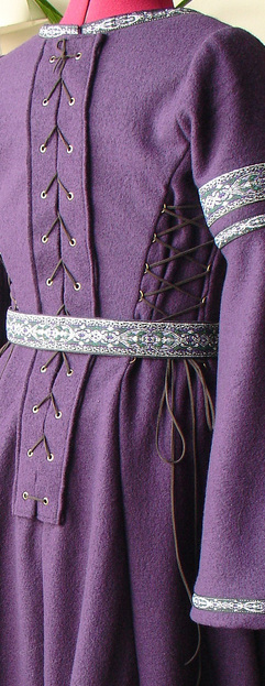 "Robe Fleur de Laine Violette ""Korkolànn"""