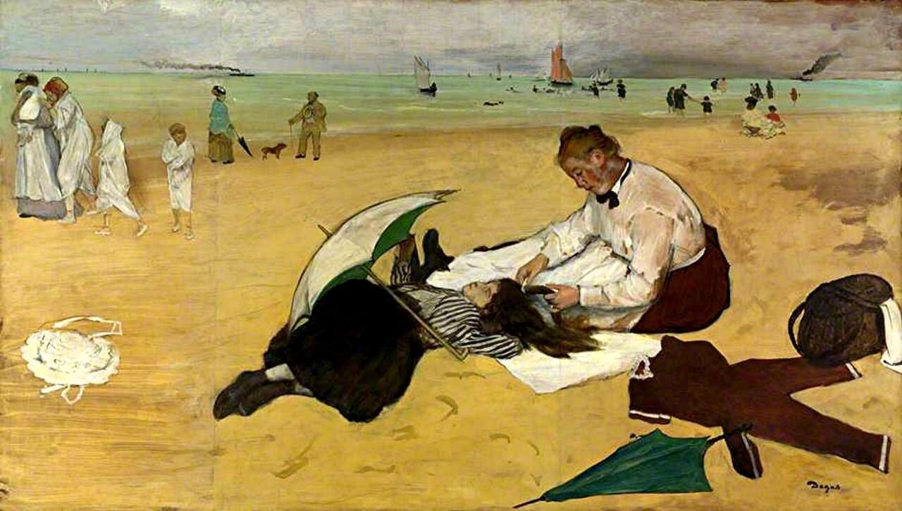 Degas 5 /         1865-la femme aux chrysanthèmes