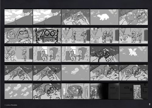 """Entrainement StoryBoard - d'après """"Là-Haut"""" des studios Pixar - Séquence """"émotion"""""""