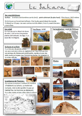 lecture documentaire le Sahara